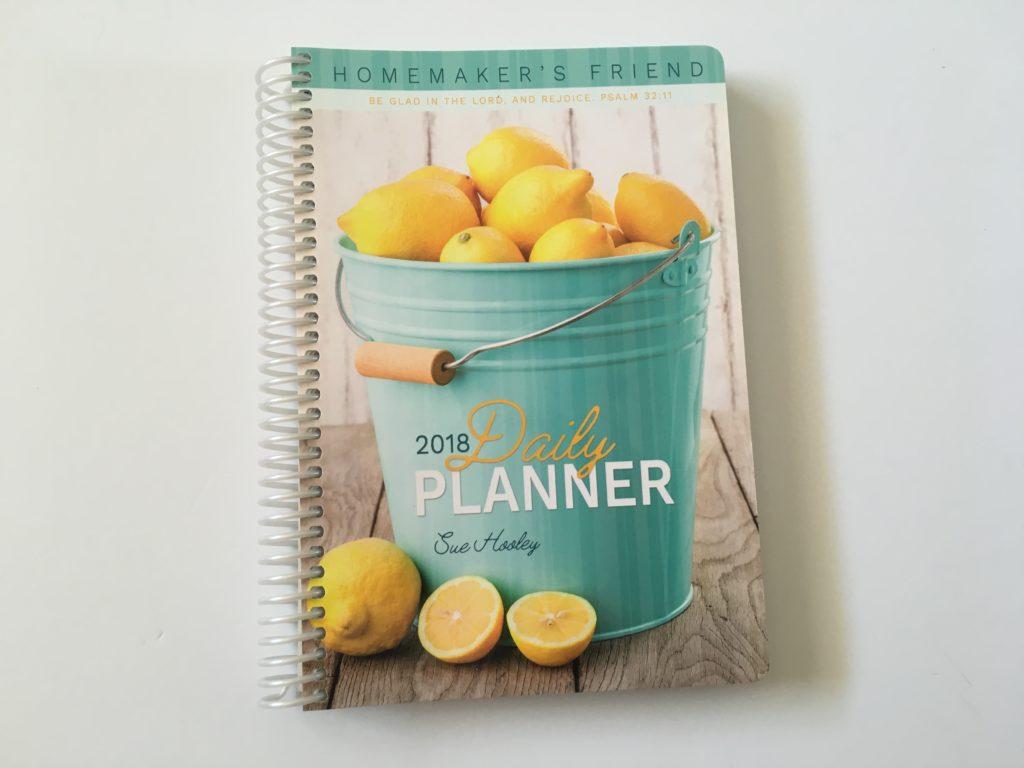 homemakers friend weekly planner horizontal 2018 sue haley