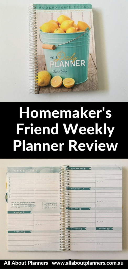 homemakers friend weekly planner horizontal monday start mom planner monthly calendar checklist shopping list portable light usa