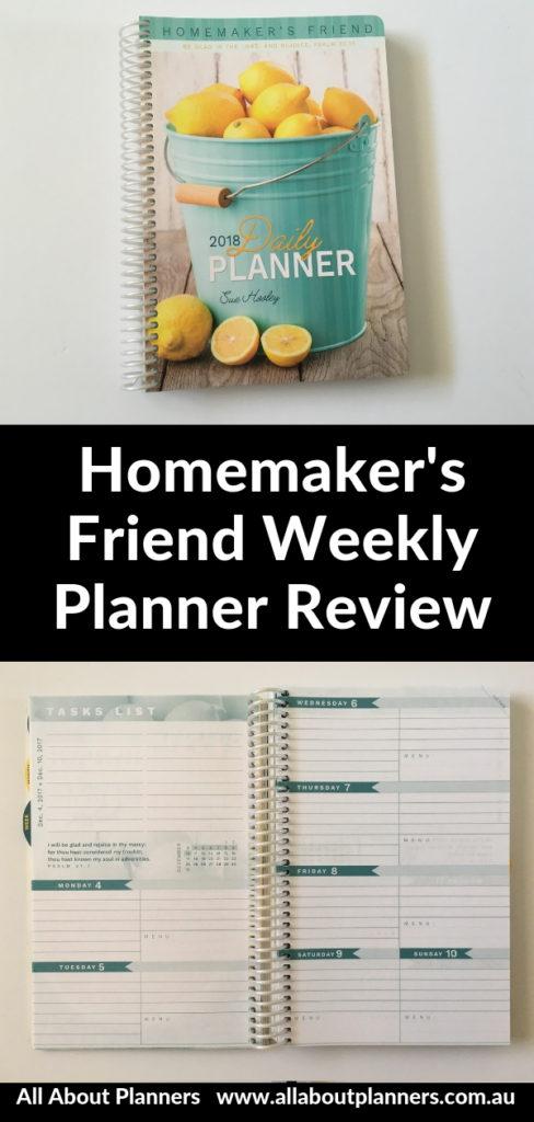 homemakers friend weekly planner horizontal monday start mom planner monthly calendar checklist shopping list portable light usa