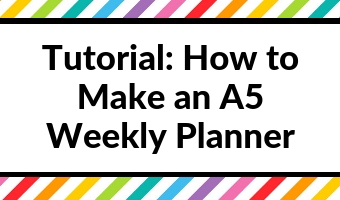 how to make an a5 weekly planner tutorial video photoshop diy 15 minutes quick easy custom monday sunday start horizontal