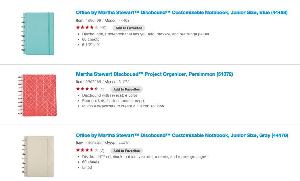 martha stewart discbound notebook arc