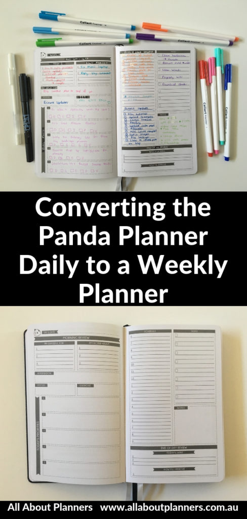 panda planner daily review pros and cons converting a daily planner into a weekly planner