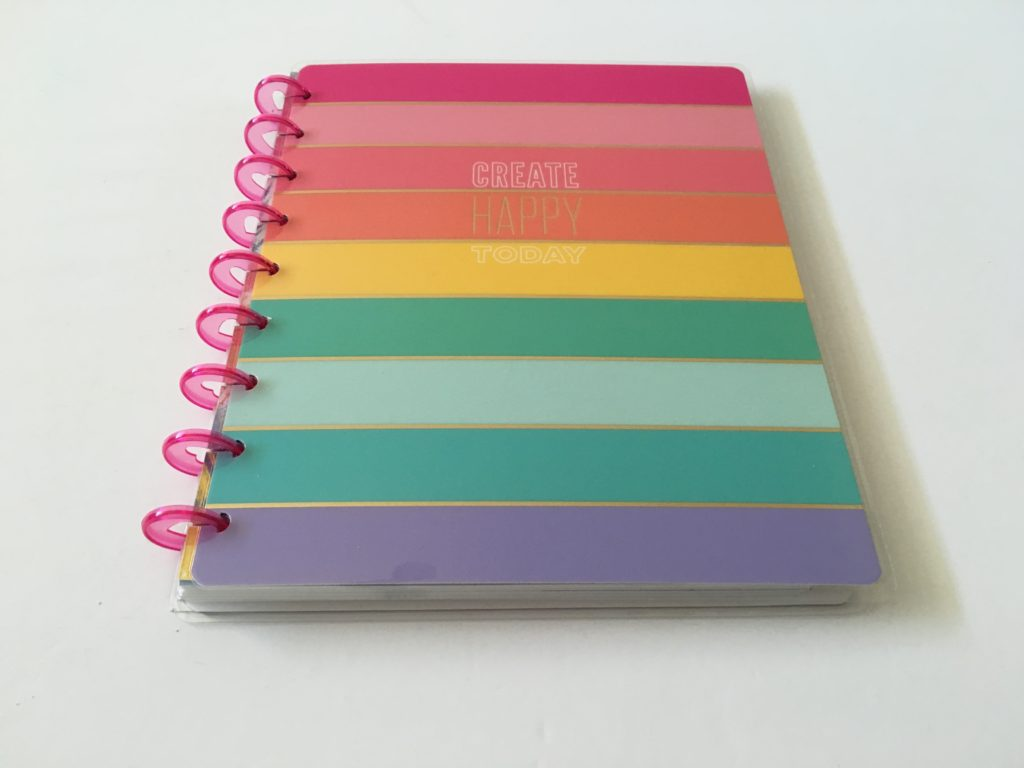 rainbow stripe cover happy note review classic size