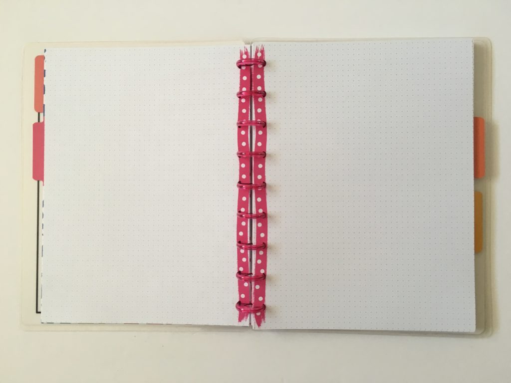 rainbow stripe cover happy note review classic size pink polka dot grid