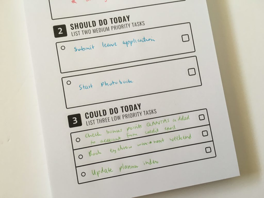to do list in a book review notepad simple daily planner must do should do could do neutral priorities cheap