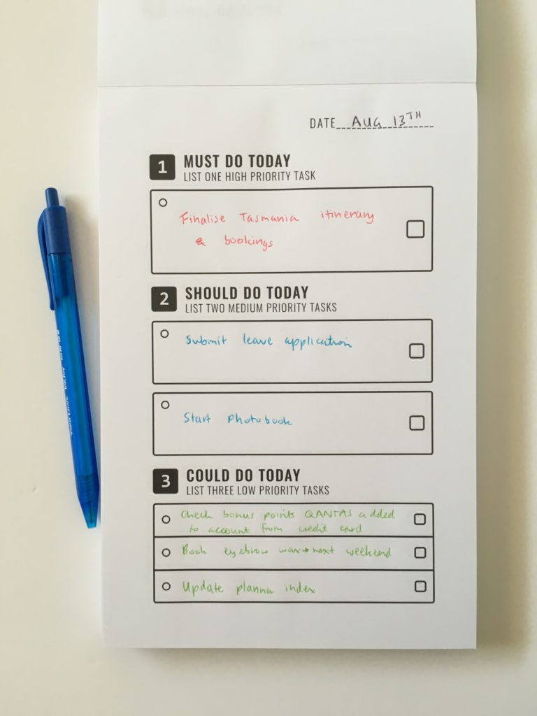to do list in a book review notepad simple daily planner must do should do could do neutral priorities inkjoy pen