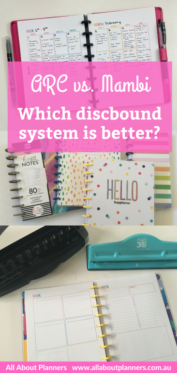 arc versus mambi which discbound system is better pros and cons review all about planners comparison punch disc size compatibility