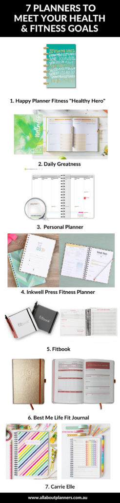 best fitness planner roundup review diet exercise calorie food journal wellness wellbeing journal
