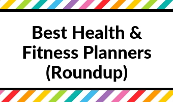 best health and fitness planners journal exercise log tracker wellbeing food