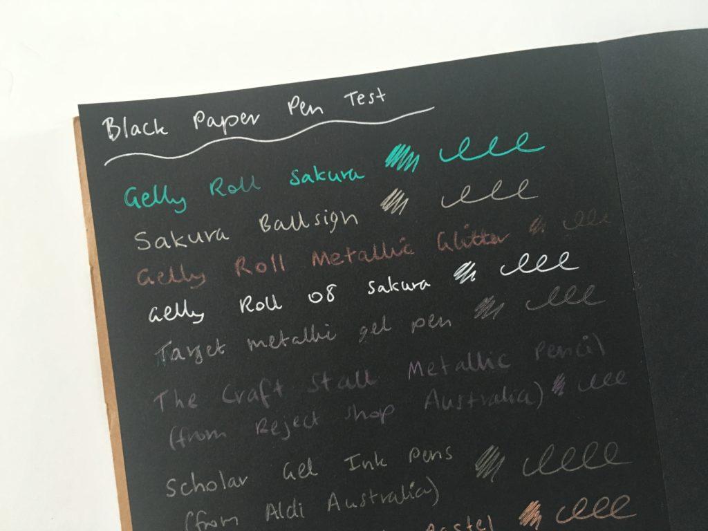 best pens for writing on black paper papicolor notebook favorite planner pens bullet journal ideas diy spread