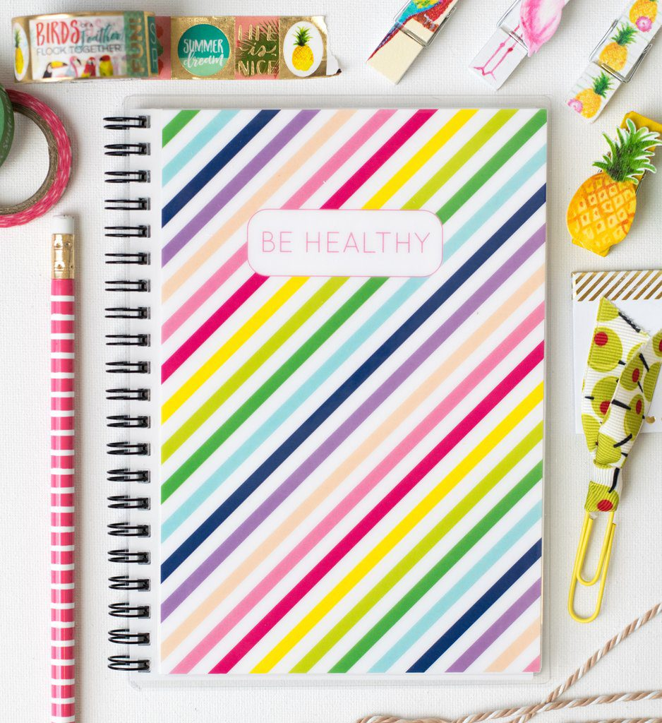 carrie elle food journal fitness planner wellbeing log calorie exercise tracker
