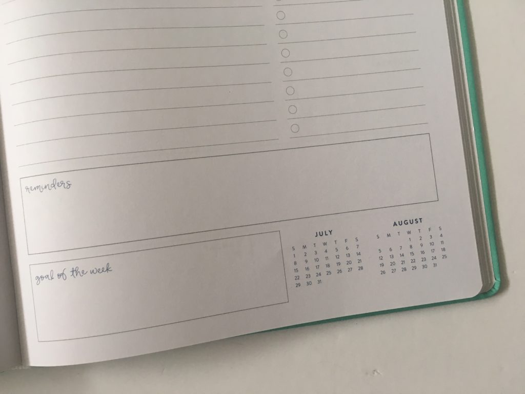 eccolo weekly planner review pros and cons lined horizontal checklist