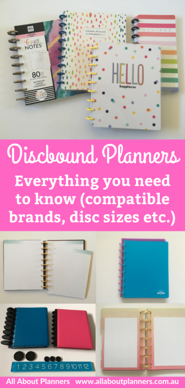 guide to discbound planners everything you need to know compatible brands disc size spacing paper quality happy notes arc tul atoma inkwell press