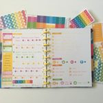Bullet journaling with planner stickers in the Happy Notes Book
