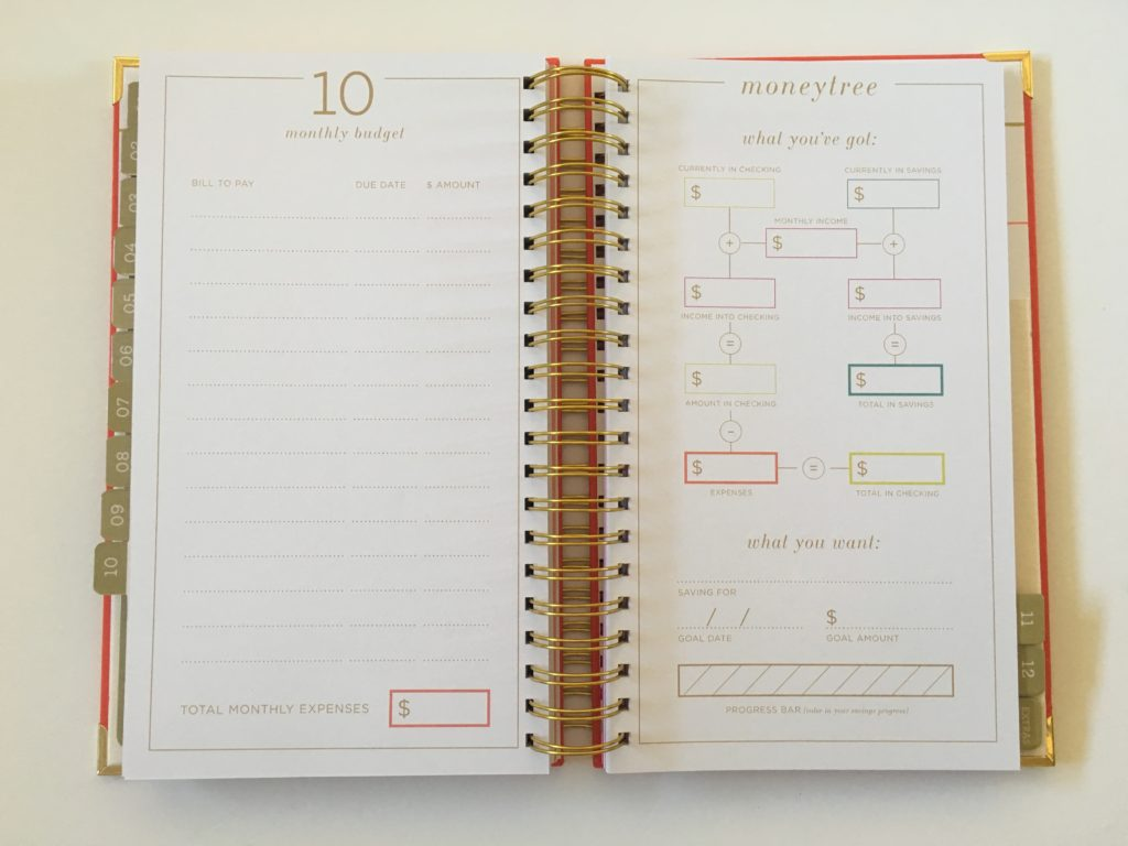 lake and loft planner review monthly planning 12 month horizontal vertical weekly spread