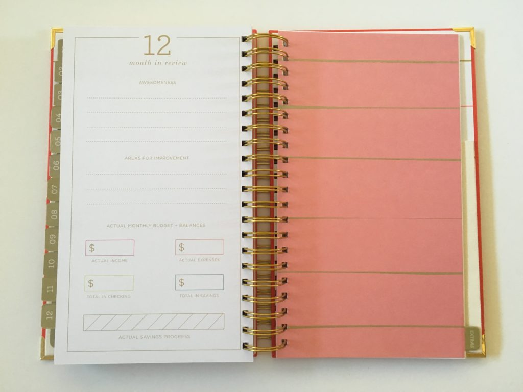 lake and loft weekly planner review monthly notes divider pages colorful functional monday start