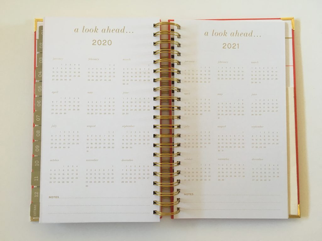 lake + loft planner review annual dates at a glance