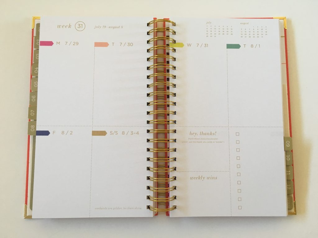 lake + loft planner review monday start colorful functional rainbow weekends combined checklist video flipthrough