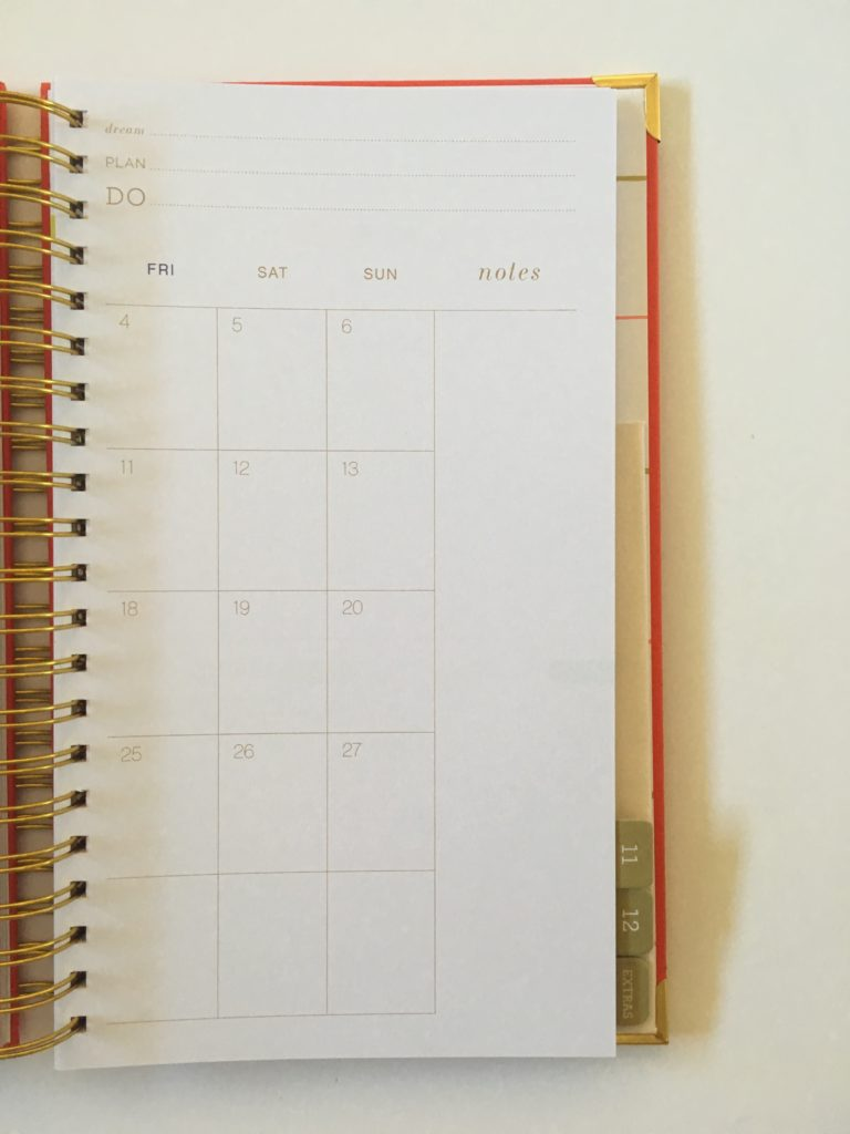 lake + loft planner review weekly spread vertical horizontal monthly calendar monday start