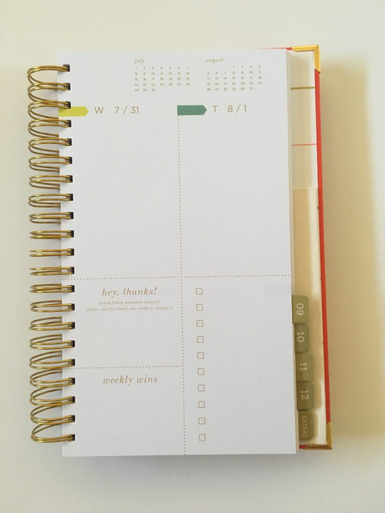 lake + loft weekly planner review grid layout monday start functional vertical horizontal simple colorful weekends combined