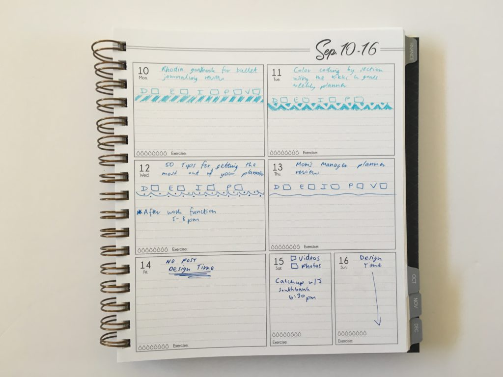 life inspired plans weekly planner horizontal 1 page per week spread monday start ombre blue simple minimalist decorating ideas
