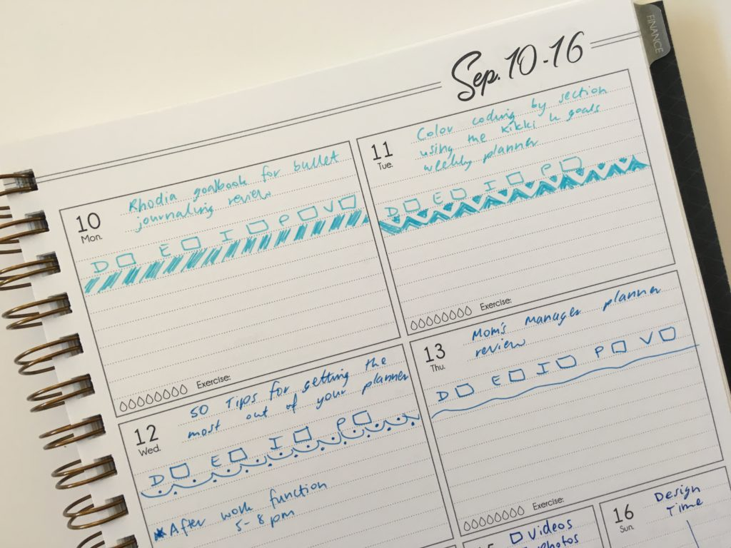 life inspired plans weekly planner horizontal 1 page per week spread monday start ombre blue simple minimalist decorating ideas page divider blog planning work personal same planner