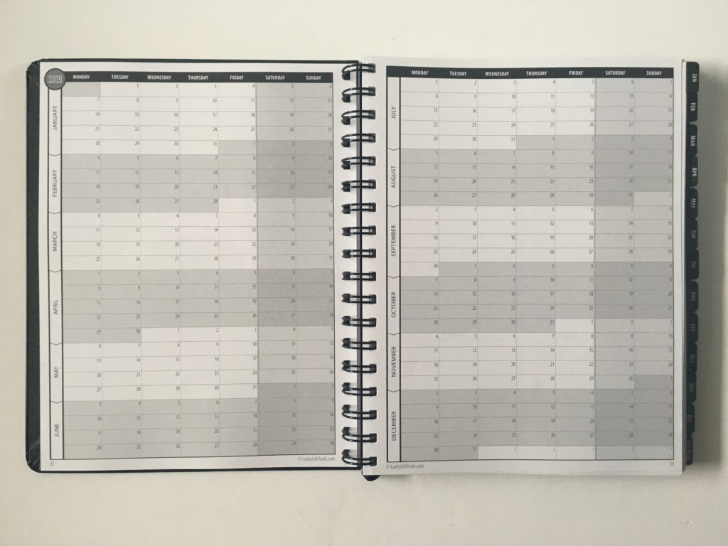 lucky life tools planner review calendex simple minimalist 2 page vertical hourly weekly spread pros and cons video