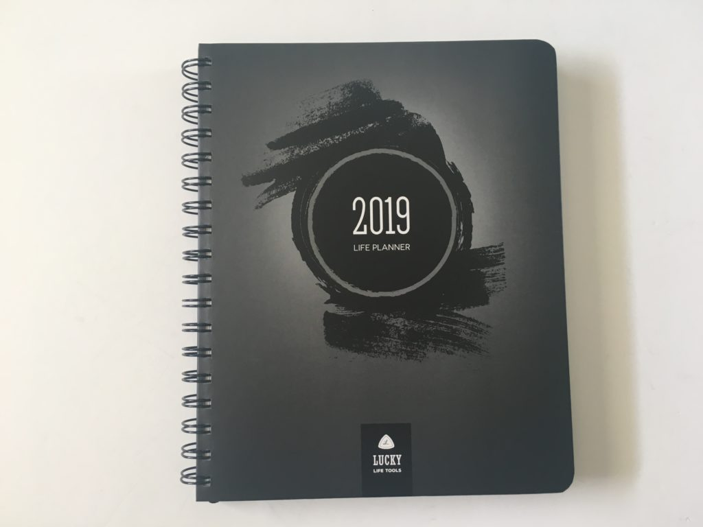 lucky life tools weekly planner review 2019 lined 1 page monthly calendar 2 page weekly spread minimalist coil bound goal setting functional
