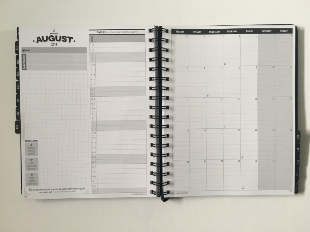 lucky life tools weekly planner review annual video pros and cons monthly calendar 1 page lined monthly planning goals timeline