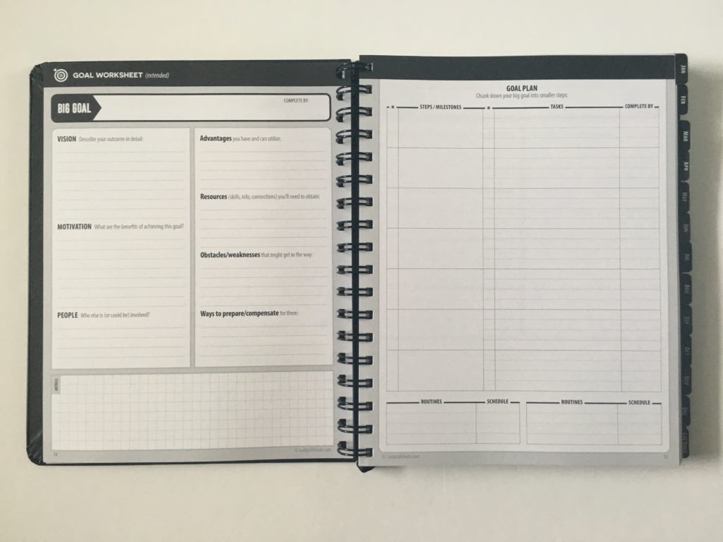 lucky life tools weekly planner review annual video pros and cons monthly calendar 1 page lined monthly planning goals timeline goal worksheet