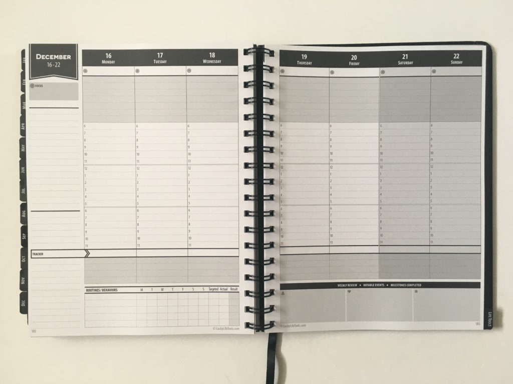 lucky life tools weekly planner review pros and cons 2 page vertical hourly weekly spread