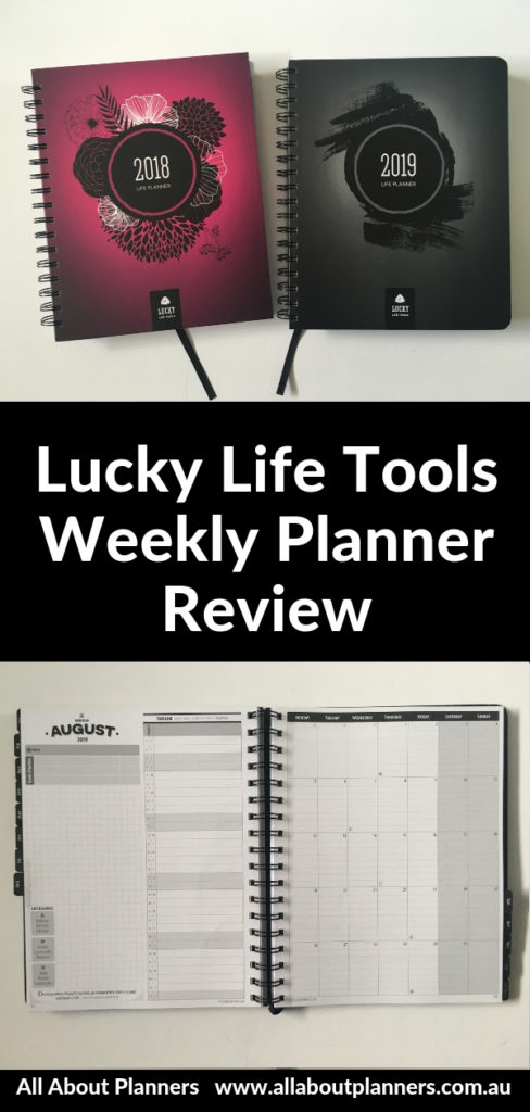 lucky life tools weekly planner review pros and cons video lined vertical hourly simple gender neutral minimalist goal setting