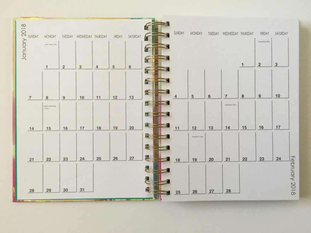 lula bijoux tri coastal designs weekly planner review monthly calendar 1 page minimalist simple monday week start