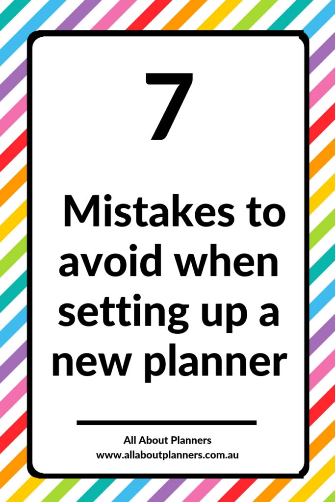 mistakes to avoid when setting up a new planner tips inspiration ideas pros and cons newbie