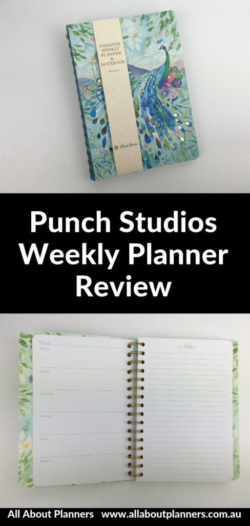 punch studios weekly planner review undated video horizontal lined with notes days of the week 1 page pros and cons