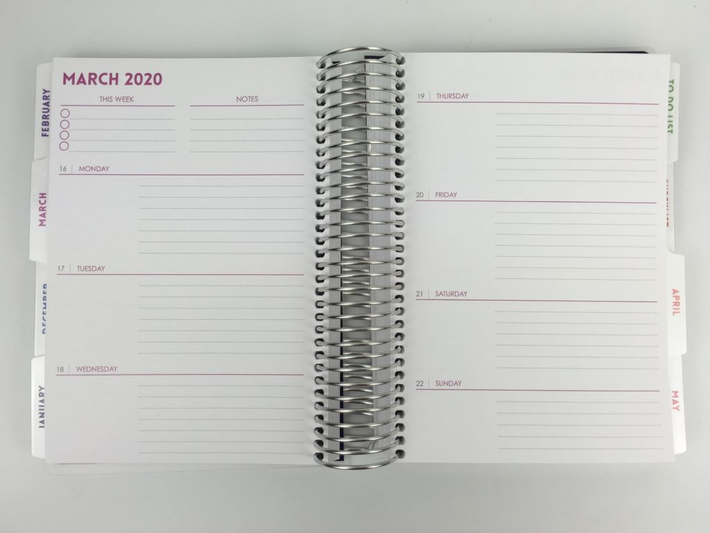 purple trail planner review monday week start lined horizontal vertical hourly mom teacher planner functional