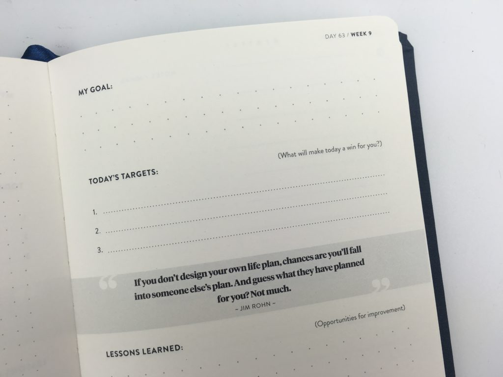 self journal productivity planner review daily 2 days per page minimalist gender neutral
