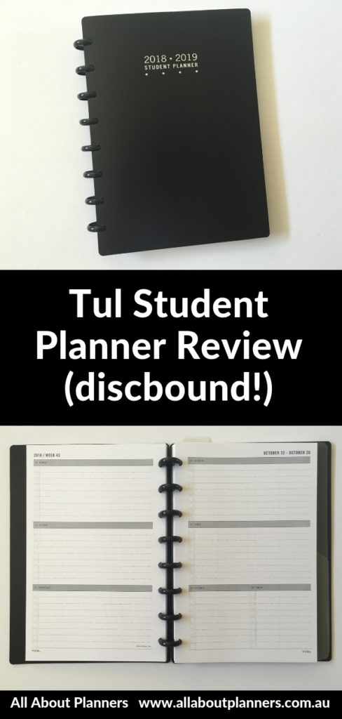 tul student planner review discbound horizontal lined notes pros and cons minimalist gender neutral junior size similar to ARC