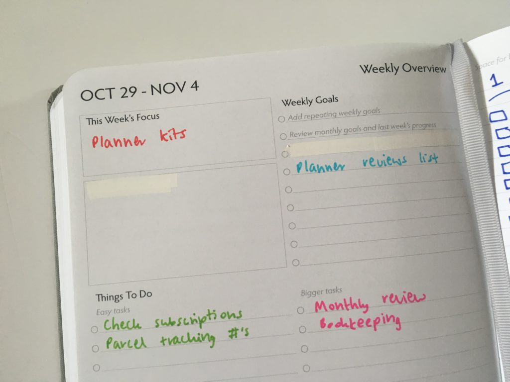 unbound planner weekly overview colorful color coding checklist diy spread inspiration pros and cons