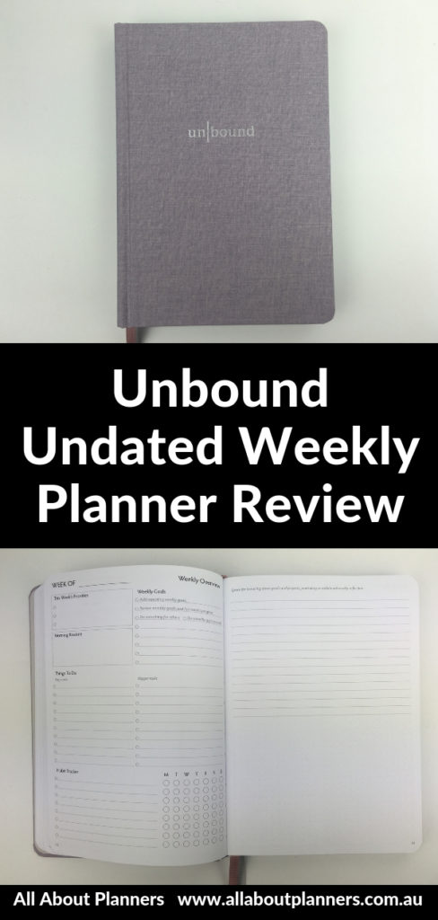 unbound undated weekly planner review pros and cons video 4 page weekly spread overview vertical monday week start sewnbound