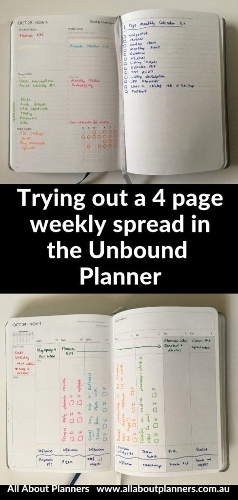 unbound weekly planner review colorful spread blog planning rainbow staedtler triplus broadliner 4 page spread minimalist simple