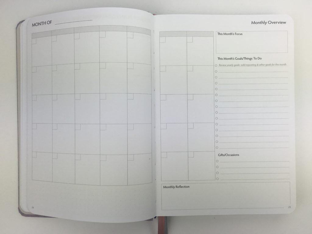 unbound weekly planner review monthly calendar undated checklist dot grid sewn bound