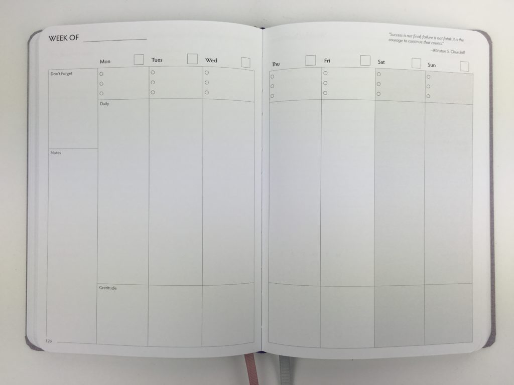 unbound weekly planner review vertical monday start minimalist weekly overview and reflection bright white paper hardbound pros and cons video