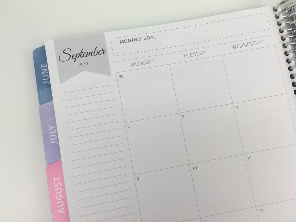 whistle and birch monthly calendar review custom personalised australian made monday start