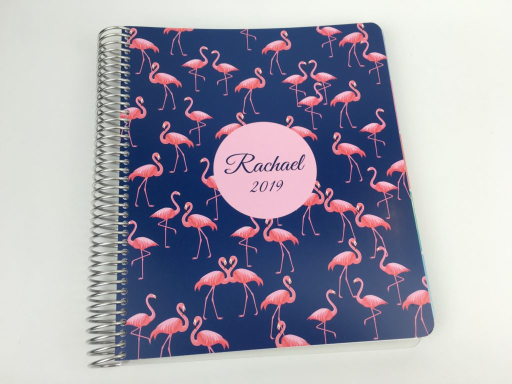 whistle and birch planner review australian made vertical horizontal hourly flamingo cover personalised monthly planning colorful tabs similar to erin condren