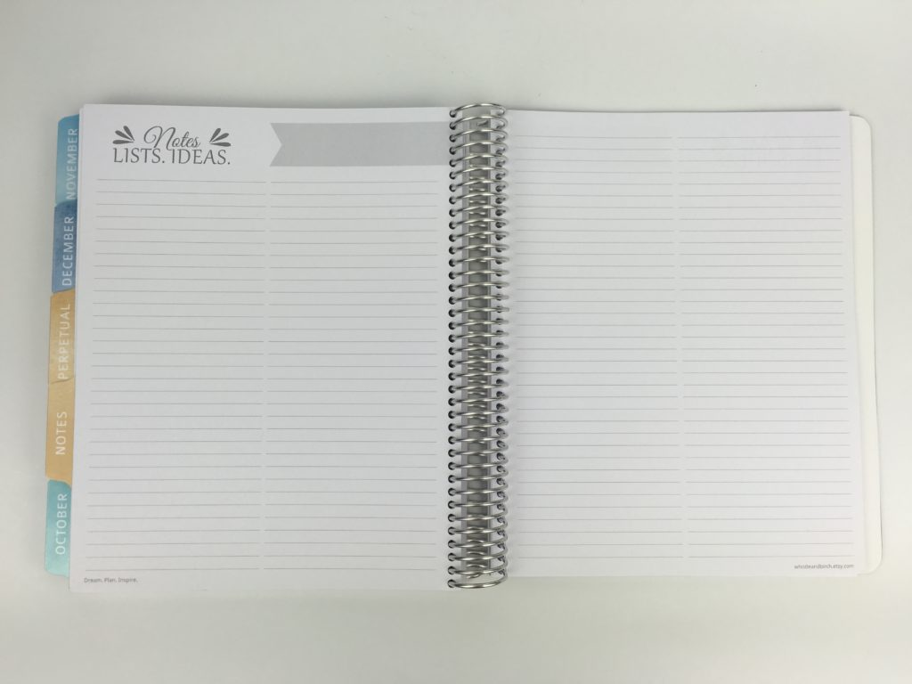 whistle and birch planner review notes pages lined checklist pen test paper quality australian made