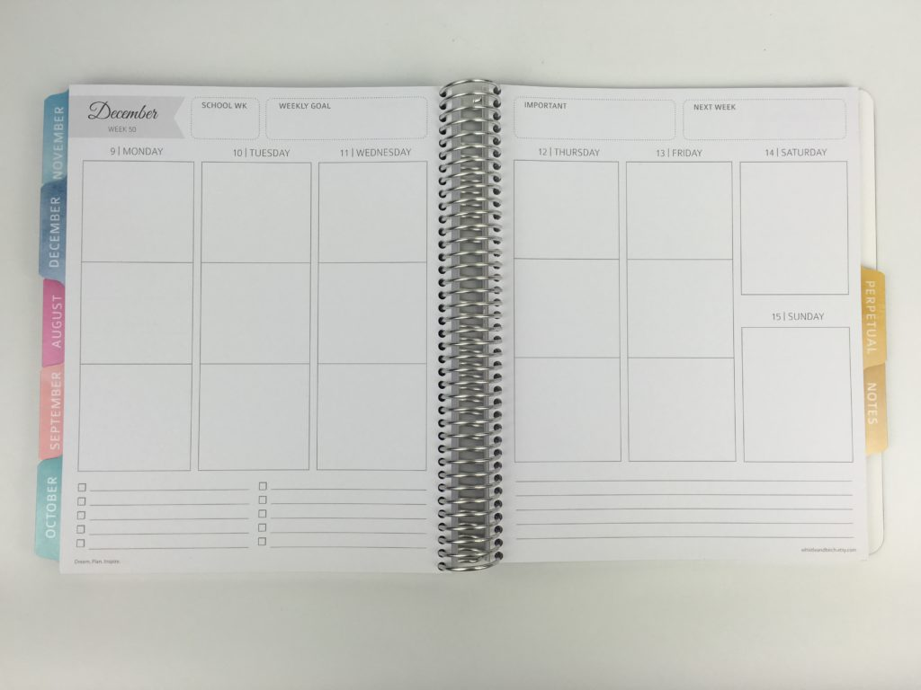 whistle and birch teacher planner layout weekly review pros and cons monday start minimalist australian made similar cheaper alternative to erin condren