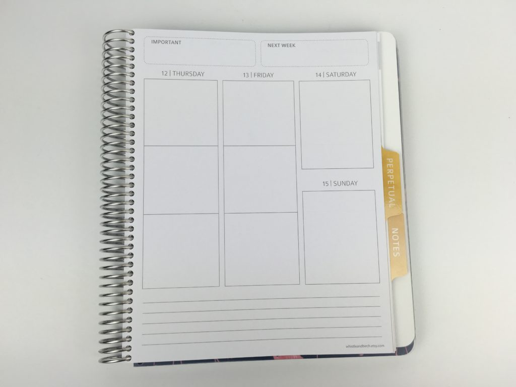 whistle and birch teacher planner layout weekly review pros and cons monday start minimalist australian made similar cheaper alternative to erin condren ausssie