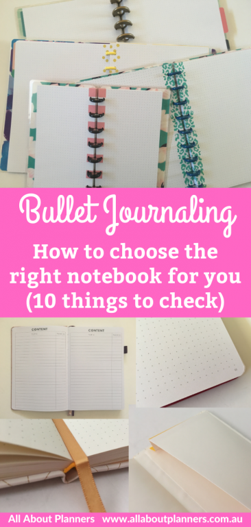 bullet journaling how to choose the right notebook for your dot grid notebook comparison things to check before buying a new bujo journal
