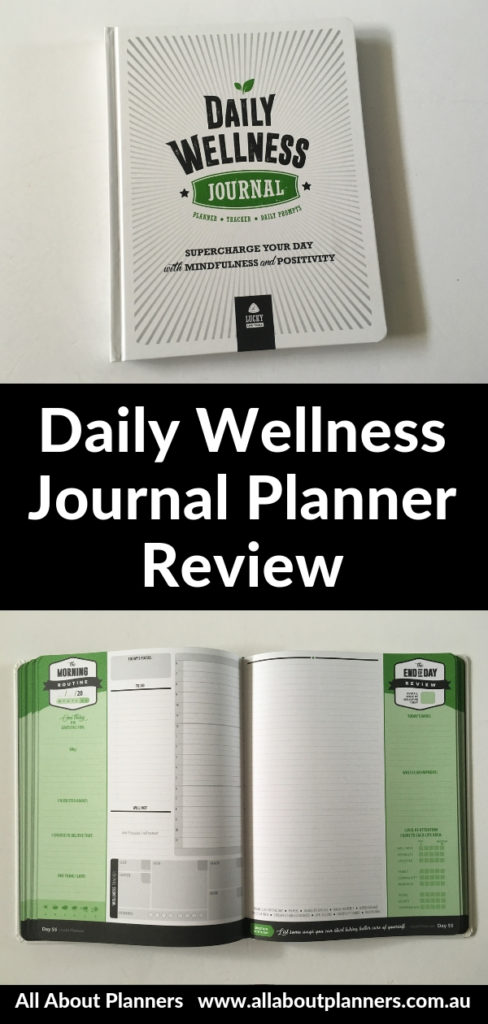 daily wellness journal planner review pros and cons video hardbound gender neutral